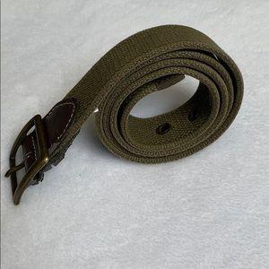 J.Crew Green Cotton Belt Medium